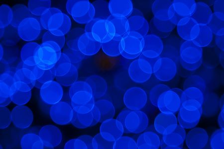 Blue Abstract Lights. Unfocused Light background Series. Stock Photo - 6487146