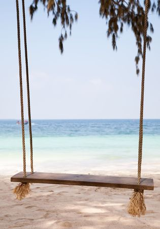 Swing On The Nature Background. Koh Tao Island. Thailand photo