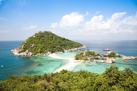 nangyuan: Tropical Island Paradise Koh Tao Stock Photo
