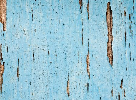 Blue painted old wooden wall photo