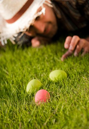 Easter Eggs On The Meadow Stock Photo - 6627940
