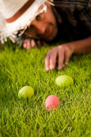 Color eggs On The Green Grass Stock Photo - 6627938