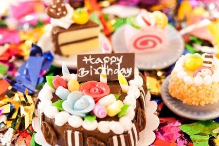 A chocolate birthday cake. Celebration collection. photo