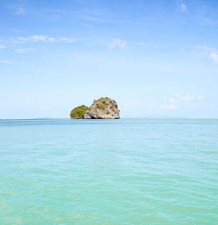 Rocky tropical island near Koh Samui. Travel Collection. Stock Photo