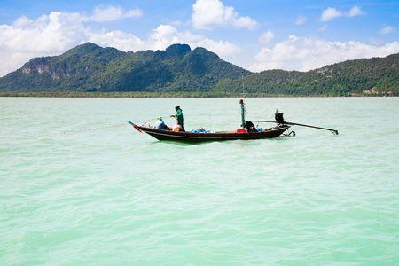 Men Fishing. Angthong National Park. Thailand photo