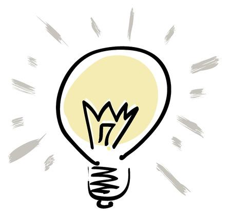 bulb: Symbol f�r Vektor-Gl�hbirne. Grafisches Objekt-Serie. Illustration