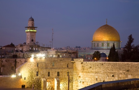 Dome Of The Rock As Seen From The Rooftops Of The Old Quarter.