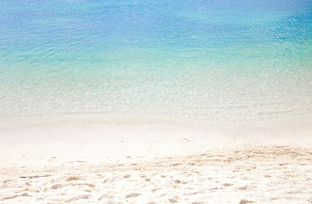 Summer beach background with clean sand and blue sky Stock Photo - 9030249