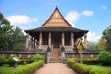 Wat Ho Phra Keo (Altar of the Emerald Buddha), Vientiane, Laos photo