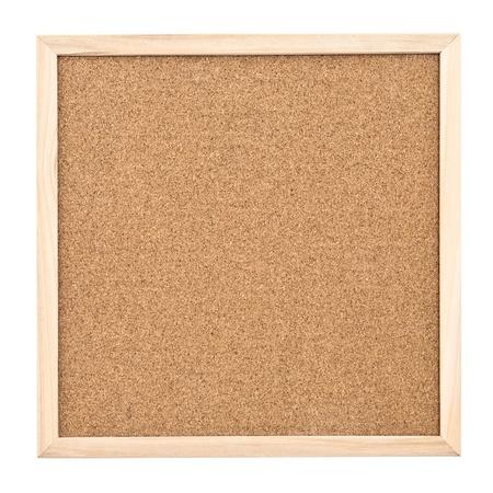 notice: Empty cork board isolated on white background Stock Photo
