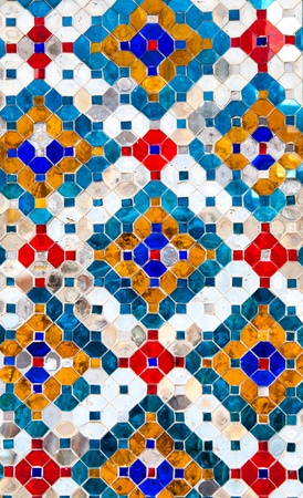 Colorful pattern of Antique mosaic background photo
