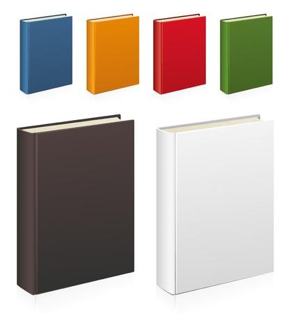 portadas de libros: Conjunto de libros de colorido vector Foto de archivo