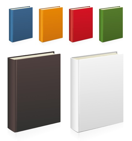 Set of colorful vector books photo