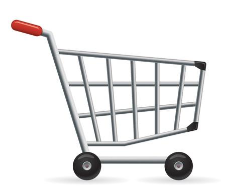 carro supermercado: Carro de compras de vector. Ideal para tu tienda en l�nea.