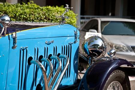 HUA HIN - DECEMBER 18: Front of Alvis Speed 20 , 1934 year. Retro Car on Vintage Car Parade 2010 at Sofitel Resort on December 18, 2010 in Hua Hin, Thailand.