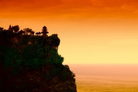 bali: Luhur Uluwatu Temple At Dawn Stock Photo