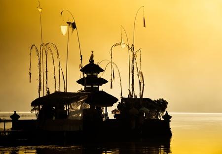 Balinese Hindu temple at dawn photo