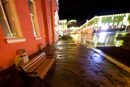 Old city illuminated at night Stock Photo - 11991637