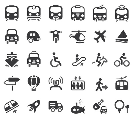Set of transportation icon Stock Vector - 11991589