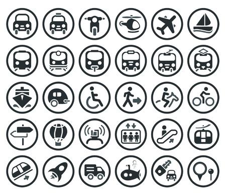 Set de transport icône Vecteurs