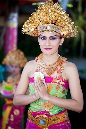 perfomance: BATUBULAN, BALI, INDONESIA- JUNE 23: Barong Dancer before Perfomance on June 23, 2011 in Batubulan, Bali, Indonesia.