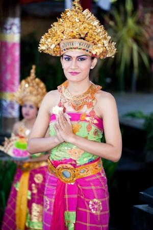BATUBULAN, BALI, INDONESIA- JUNE 23: Barong Dancer before  Perfomance on June 23, 2011 in Batubulan, Bali, Indonesia.