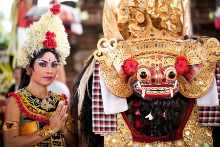 BATUBULAN, BALI, INDONESIA- JUNE 23: Barong Dance, the traditional balinese perfomance on June 23, 2011 in Batubulan, Bali, Indonesia.