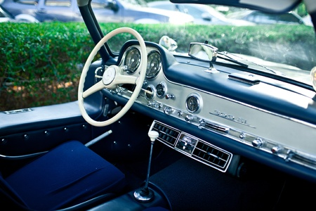 Old Vintage Retro Roadster Car Interior Stock Photo Picture And