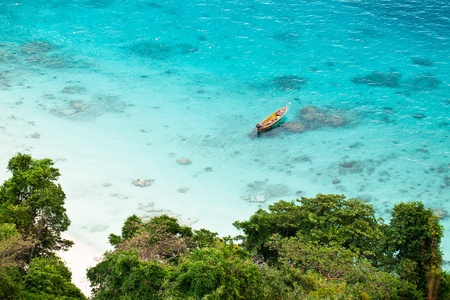 Paradise tropical bay near the Similan islands, Thailand photo