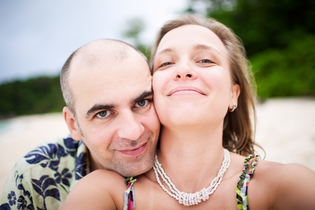 Happy Smiling Couple Near The Beach Stock Photo - 12669766