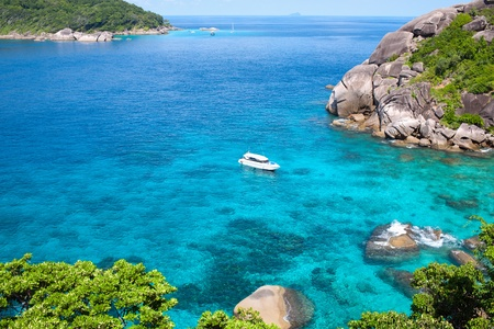 Similan Islands Paradise Bay, Thailand Stock Photo