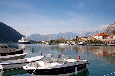 Kotor bay harbour view, Montenegro, Europe photo