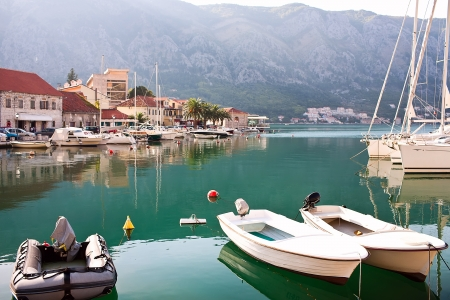 Old Europe city Kotor in Montenegro photo