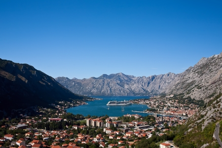 Kotor bay skyline, Montenegro, Europe photo