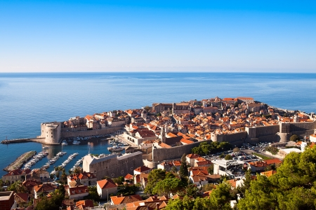 Harbour of old town of Dubrovnik, Croatia photo
