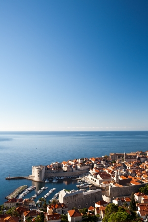 View on Harbour of Dubrovnik old Town, Croatia