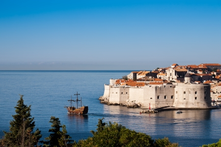 World heritage Old town of Dubrovnik, Europe, Adriatic sea photo