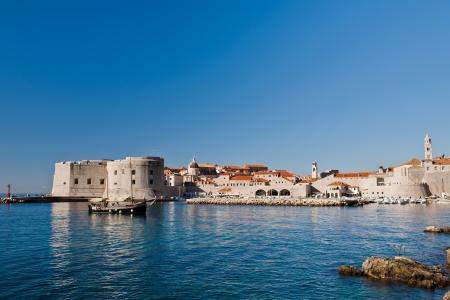 dubrovnik: Dubrovnik, Croatia, City walls, old town, Europe Stock Photo