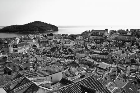 croatia dubrovnik: Dubrovnik, Croatia, Europe, Black and White