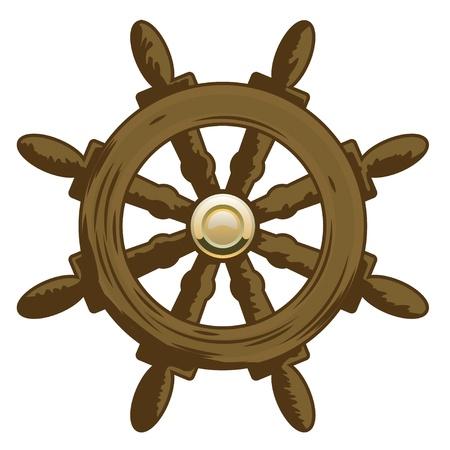 Wheel Vector Icon  Marine collection  Illustration