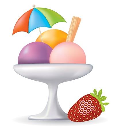 sorbet: Vector Ice Cream  Restaurant Collection
