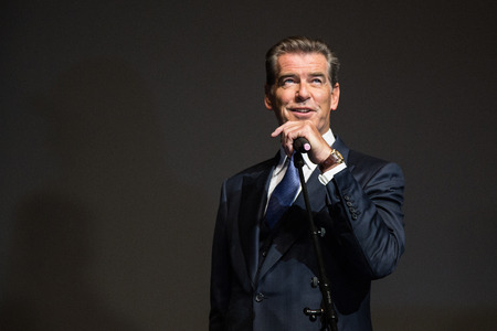 pierce: MOSCOW, RUSSIA, September, 10: Actor Pierce Brosnan. Premiere of the movie THE NOVEMBER MAN, September, 10, 2014 at Barvikha Luxury Village in Moscow, Russia