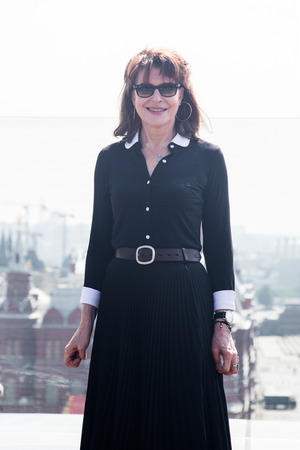 fanny: MOSCOW, RUSSIA, May, 13: Actress Fanny Ardant. Premiere of the movie CADENCES OBSTINEES, May, 13, 2014 at RITZ HOTEL in Moscow, Russia