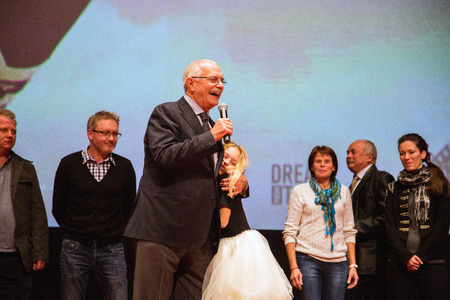 sunstroke: MOSCOW - OCTOBER,7 : N. Mikhalkov. Premiere of the movie Solnechny Udar, October,7 , 2014 at Octyabr Cinema in Moscow, Russia
