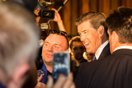 MOSCOW, RUSSIA, September, 10: Actor Pierce Brosnan. Premiere of the movie THE NOVEMBER MAN, September, 10, 2014 at Barvikha Luxury Village in Moscow, Russia