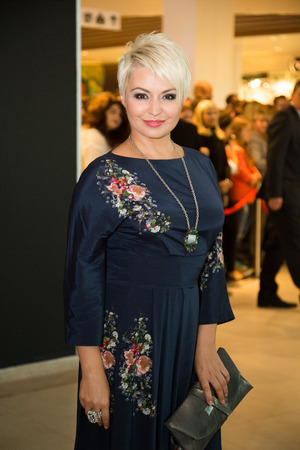 MOSCOW, RUSSIA, September, 20: Singer Katya Lel. Opening Ru-tv Studio, September, 20, 2014 at Vegas Center in Moscow, Russia