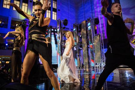 pop idol: MOSCOW, RUSSIA, September, 20: Singer Vera Brezhneva. Opening Ceremony Vegas Shopping Mall, September, 20, 2014 at Vegas Center in Moscow, Russia Editorial