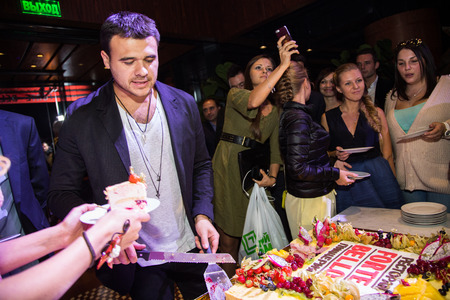 MOSCOW, RUSSIA, September, 20: Vice-President Crocus Group Emin Agalarov. Afterparty Opening  Restaurant, September, 20, 2014 at Vegas  Center in Moscow, Russia