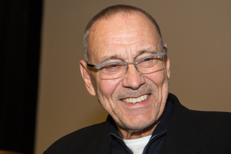 nights: MOSCOW, RUSSIA, NOVEMBER, 23: Director Andrei Konchalovsky (The Postmans White Nights) at  VGIK Student Festival. November, 23, 2014 at Gerasimov Institute of Cinematography  in Moscow, Russia