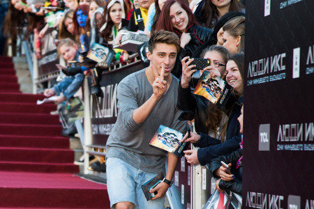 press agent: MOSCOW, RUSSIA, May, 13: . Premiere of the movie X-Men, May, 13, 2014 at Rossiya Cinema in Moscow, Russia